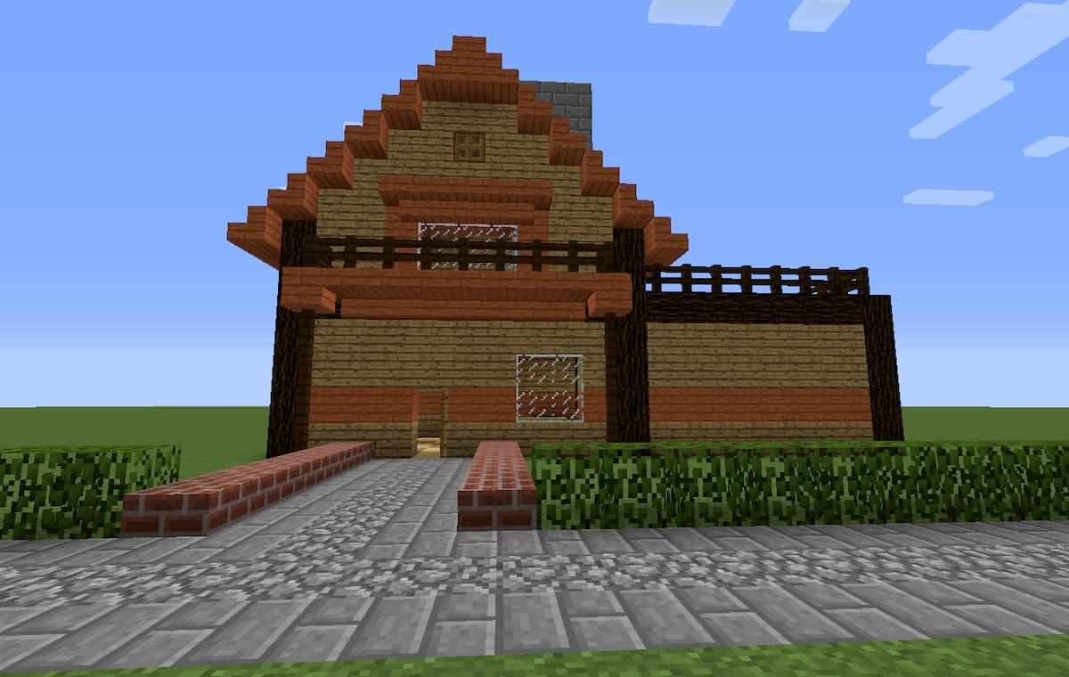 マイクラ】家の簡単な作り方(設計図)・かっこいい家/キレイな家